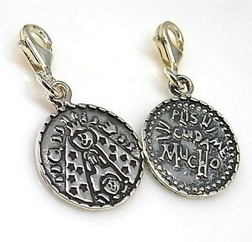 13706-Colgante-mosqueton-porfi-Virgencita Colgante mosquetón porfi Virgencita
