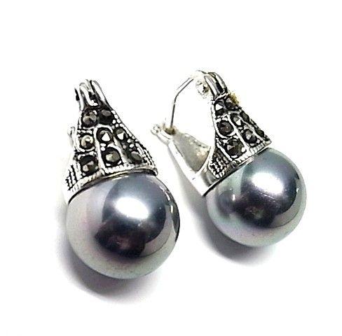 5653-Pendiente-perla-color Pendiente perla color