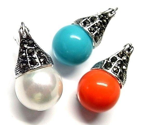 6133-Pendiente-perla-color Pendiente perla color