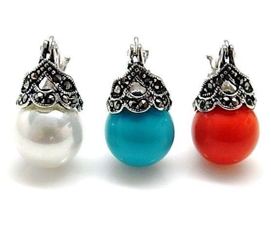 8628-Pendiente-perla-color Pendiente perla color