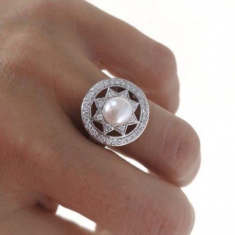 21927.2 Anillo perla rodiada