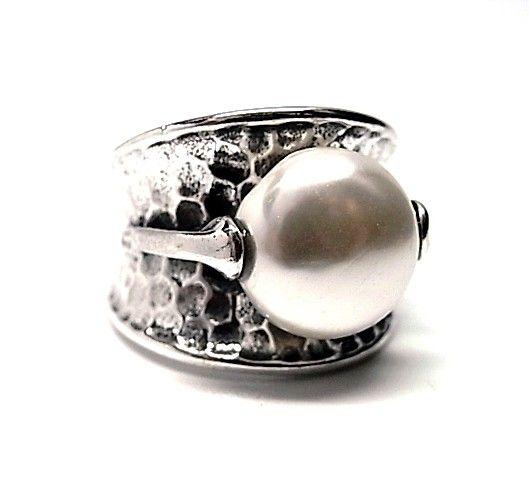 5787-Sortija-martilleada-perla-cor Anillo martilleada perla color