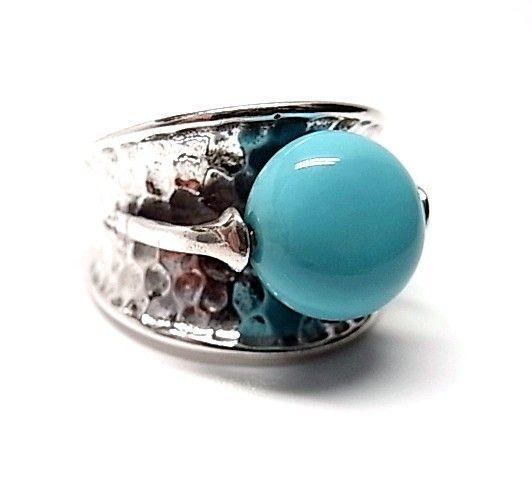5788-Sortija-martilleada-perla-cor Anillo martilleada perla color