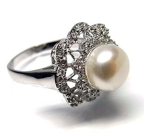 5927-Sortija-perla-rodiada Anillo perla rodiada