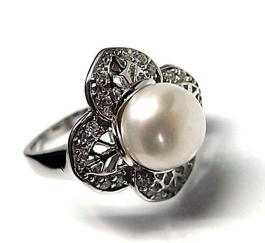 5945-Sortija-perla-rodiada Anillo perla rodiada