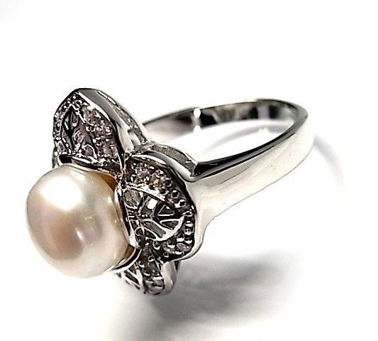 5946-Sortija-perla-rodiada Anillo perla rodiada