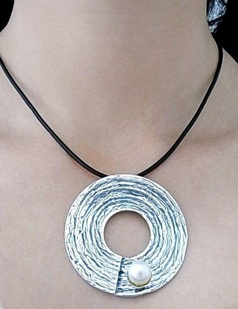 12031-Colgante-liso-perla Colgante liso perla