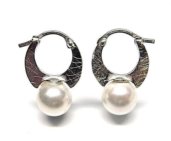 6027-Pendiente-aro-perla-color Pendiente aro perla color