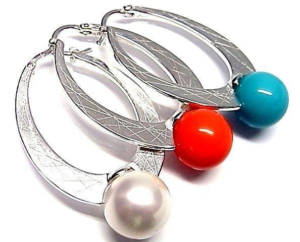 6132-Pendiente-aro-perla-color Pendiente aro perla color