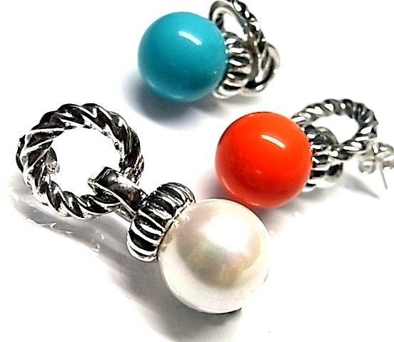 6251-Pendiente-perla-color Pendiente perla color