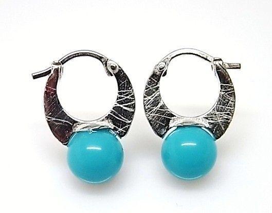 7591-Pendiente-aro-perla-color Pendiente aro perla color