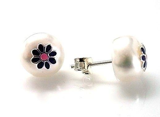7214-Pendiente-perla-esmalte Pendiente perla esmalte