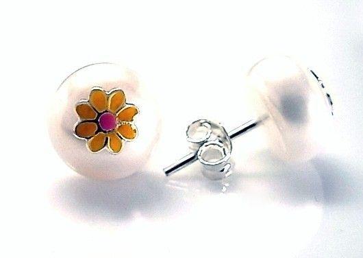 7216-Pendiente-perla-esmalte Pendiente perla esmalte