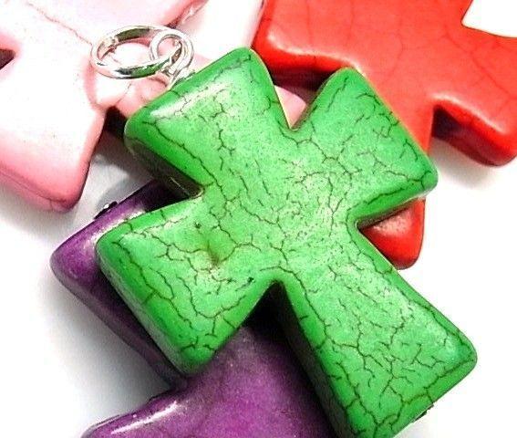 10212-Colgante-cruz-piedra-color Colgante cruz piedra color