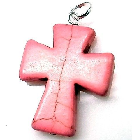 10214-Colgante-cruz-piedra-color Colgante cruz piedra color