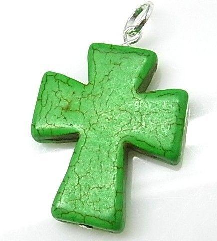 10215-Colgante-cruz-piedra-color Colgante cruz piedra color