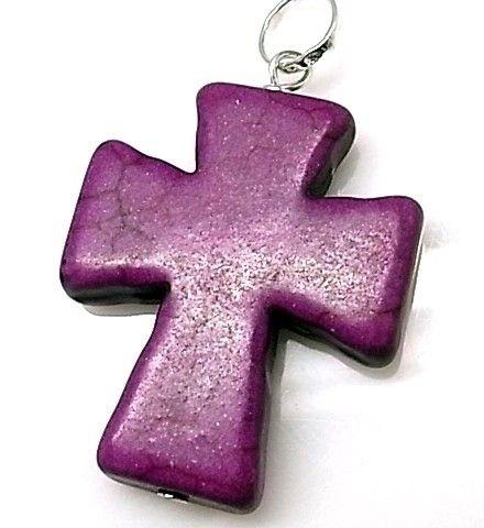 10216-Colgante-cruz-piedra-color Colgante cruz piedra color