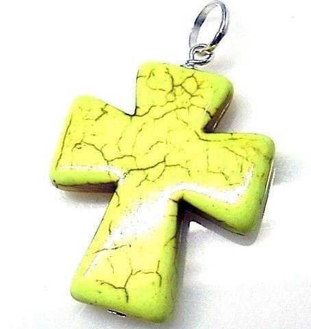 10217-Colgante-cruz-piedra-color Colgante cruz piedra color
