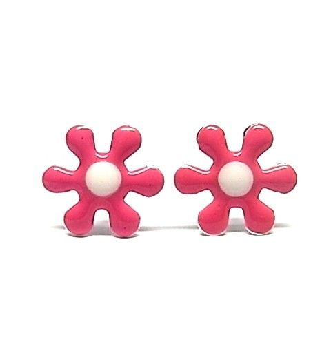 5423-Pendiente-flor-esmalte Pendiente flor esmalte