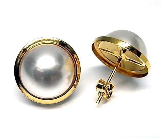 6263-Pendiente-perla-chapado Pendiente perla chapado