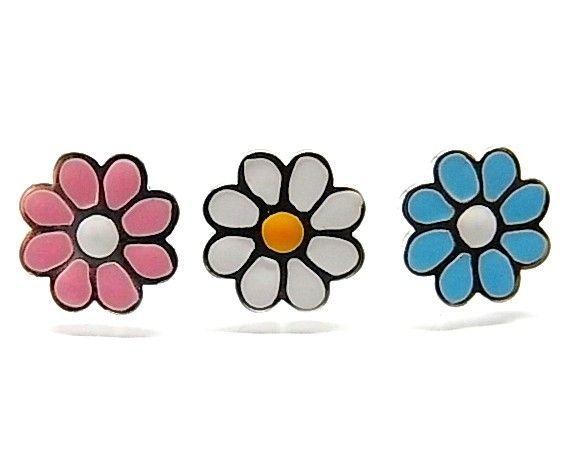 7122-Pendiente-esmalte-flor Pendiente esmalte flor