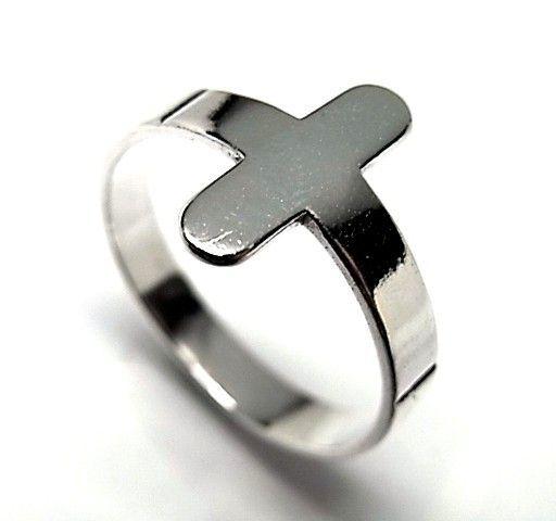 6367-Sortija-cruz Anillo cruz