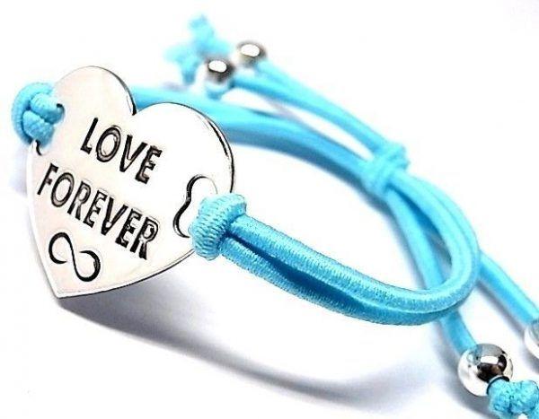 """6508-Pusera-corazon-LOVE-FOREVER-infinito-600x467 Pulsera corazón """"LOVE FOREVER"""" infinito"""