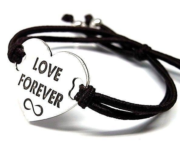 """6509-Pusera-corazon-LOVE-FOREVER-infinito Pulsera corazón """"LOVE FOREVER"""" infinito"""