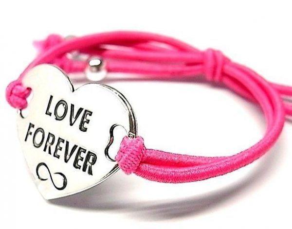 """6510-Pusera-corazon-LOVE-FOREVER-infinito-600x471 Pulsera corazón """"LOVE FOREVER"""" infinito"""