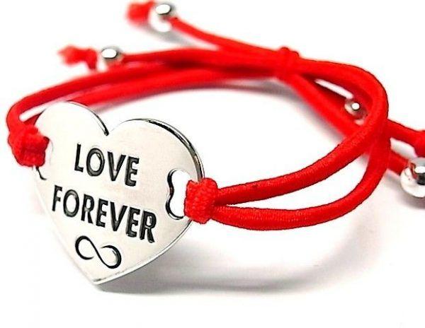 """6511-Pusera-corazon-LOVE-FOREVER-infinito-600x464 Pulsera corazón """"LOVE FOREVER"""" infinito"""