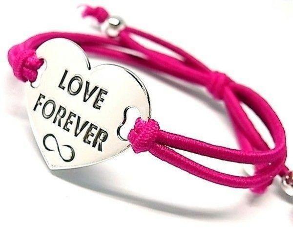 """6513-Pusera-corazon-LOVE-FOREVER-infinito-600x478 Pulsera corazón """"LOVE FOREVER"""" infinito"""