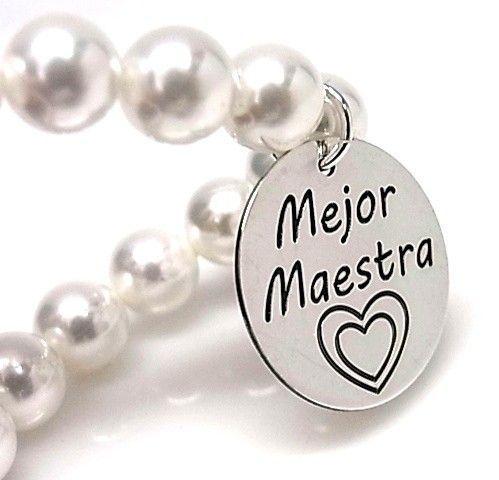 """10671-Pulsera-perla-mejor-maestra Pulsera perla """" mejor maestra"""""""