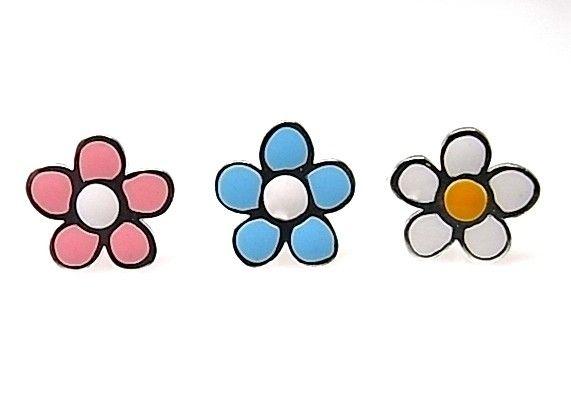 8005-Pendiente-flor-esmalte-color Pendiente flor esmalte color