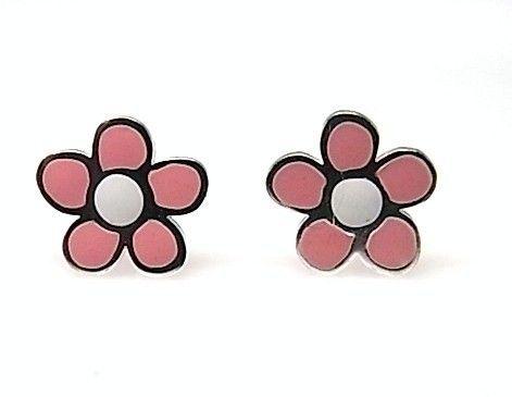 8006-Pendiente-flor-esmalte-color Pendiente flor esmalte color