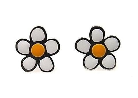 8007-Pendiente-flor-esmalte-color Pendiente flor esmalte color