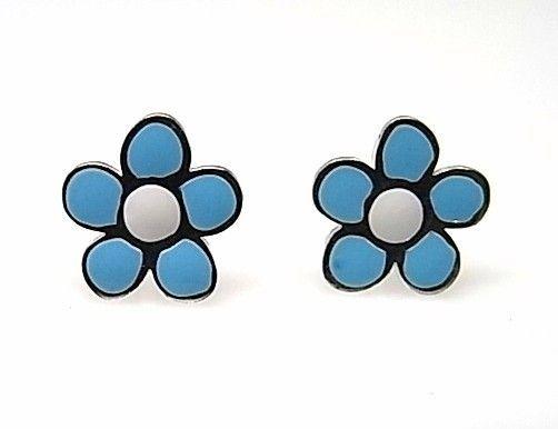 8008-Pendiente-flor-esmalte-color Pendiente flor esmalte color