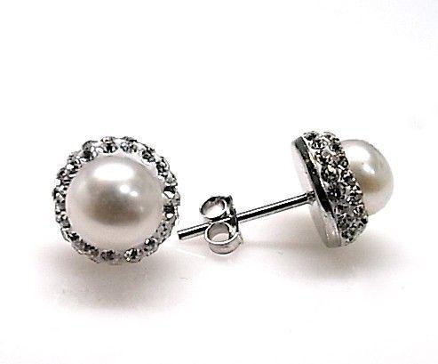 8423-Pendiente-perla-simil Pendiente perla simil