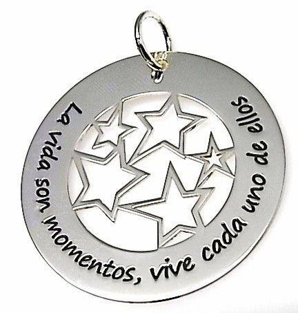 """9583-Colgante-estrellas-La-vida-son-momentos-vive-cada-uno-de-ellos Colgante estrellas """"La vida son momentos , vive cada uno de ellos"""""""