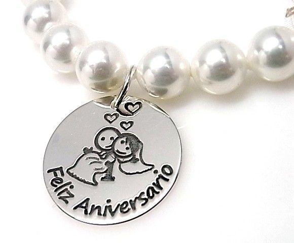 10847-Pulsera-perlas-Feliz-aniversario Pulsera perlas Feliz aniversario