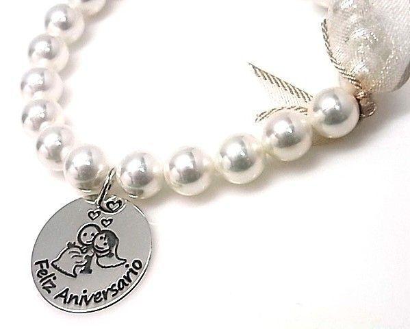 10848-Pulsera-perlas-Feliz-aniversario Pulsera perlas Feliz aniversario
