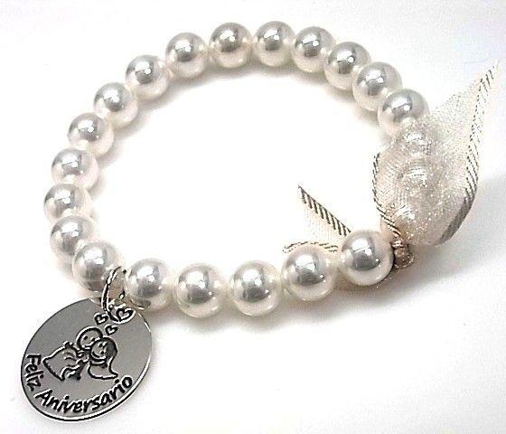 10849-Pulsera-perlas-Feliz-aniversario Pulsera perlas Feliz aniversario