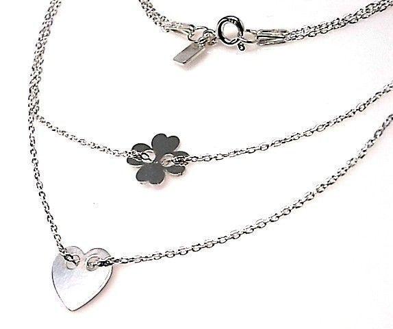 10862-Gargantilla-doble-cadena-corzon-y-flor Gargantilla doble cadena corzón y flor