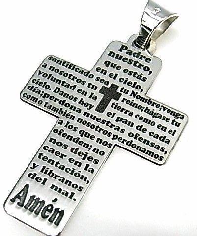 11180-Colgante-cruz-Padre-Nuestro Colgante cruz Padre Nuestro