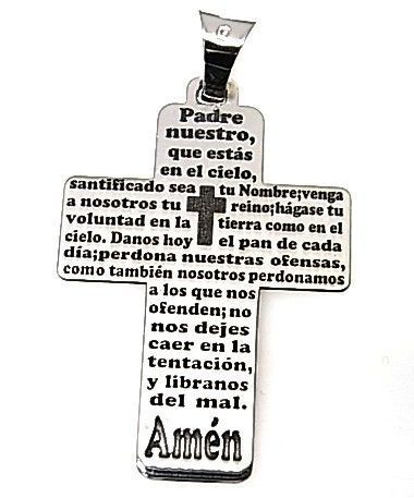 11181-Colgante-cruz-Padre-Nuestro Colgante cruz Padre Nuestro