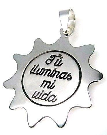"""11209-Colgante-sol-tu-iluminas-mi-vida Colgante sol """" tú iluminas mi vida """""""