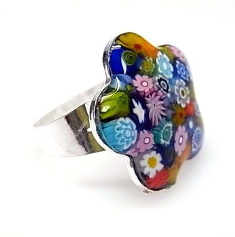 11920-Sortija-flor-murano Anillo flor murano
