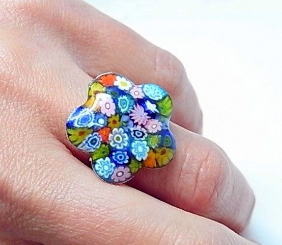 11921-Sortija-flor-murano Anillo flor murano