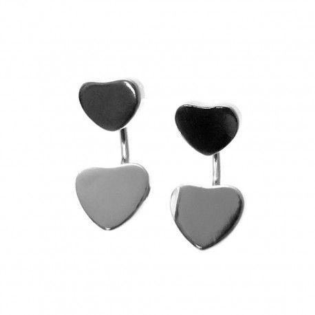 27899.2 Pendiente dos piezas corazón