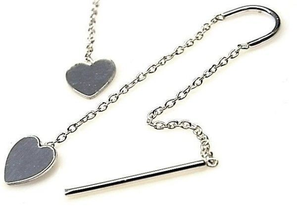 12937-Pendiente-doble-cadena-corazon-600x450 Pendiente doble cadena corazón