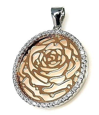 14097-Colgante-rosa-circonitas-rodiado Colgante rosa circonitas rodiado
